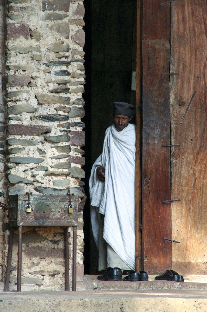14. Ethiopie - Gonder. Monnik