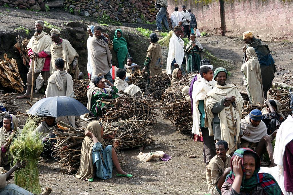 23. Ethiopie - Markt voor brandhout